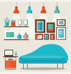 Livingroom design vector