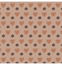 Love Coffee Beans Seamless Pattern vector image