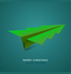 modern concept christmas tree and origami vector image