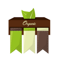 Organic food natural product vector