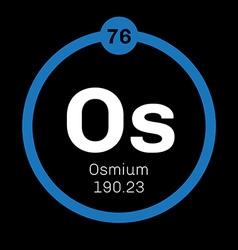 Osmium chemical element vector
