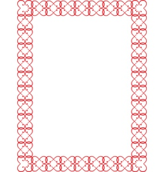 Red valentines day border vector