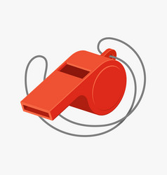 referee whistle vector image