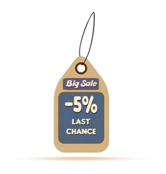 Sale tag label with text vector
