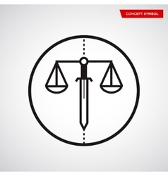 Scale of justice symbol vector image
