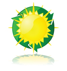 Solar power vector image