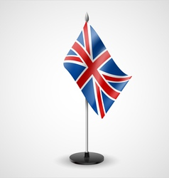 Table flag of united kingdom vector