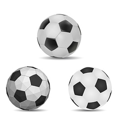 Three style ball vector image