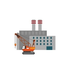 factory and industrial crane icon vector image