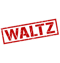 Waltz stamp vector