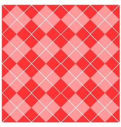 Argyle Pink Seamless Pattern vector image