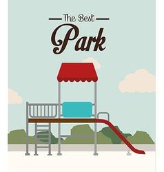 Park design over landscape background vector image