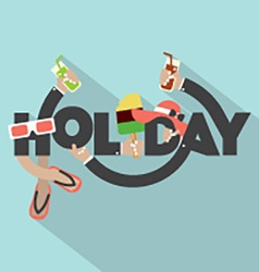 Concept of holiday typography design vector