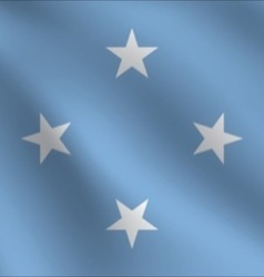 Micronesia flag vector