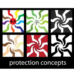 protection concepts set vector image