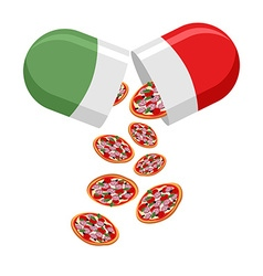 Italian national pill medicine patriotic from the vector