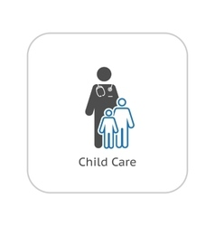 Child care and medical services icon flat design vector