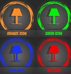 Lamp icon sign fashionable modern style in the vector