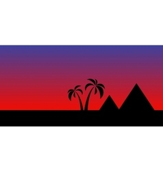 Egypt night landscape vector