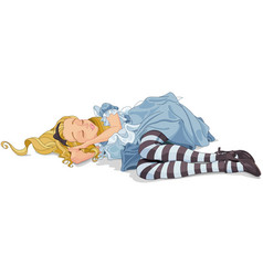alice sleeping vector image