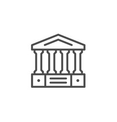 ancient building line icon vector image