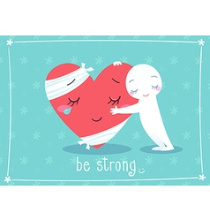 be strong vector image vector image