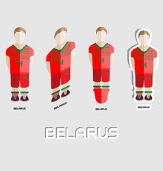 Belarus soccer team sportswear template vector