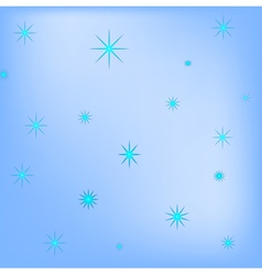 Blue background of snowflakes vector image