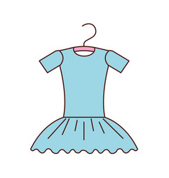 Blue tutu ballet on the hanger costume vector