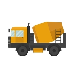 Building under construction cement mixer machine vector