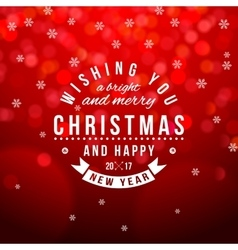 Christmas type composition on bokeh background vector image