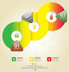 Circle and icons vector image vector image
