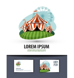 Circus logo design template show or entertainment vector