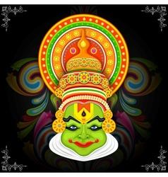 Colorful kathakali face vector