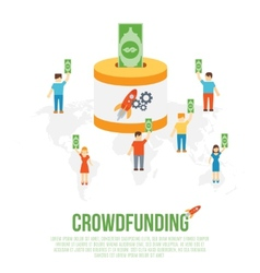 Crowdfunding business concept vector