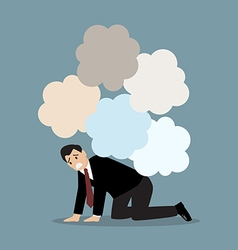 Desperate businessman under the trouble vector image vector image