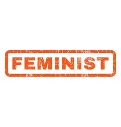 Feminist rubber stamp vector