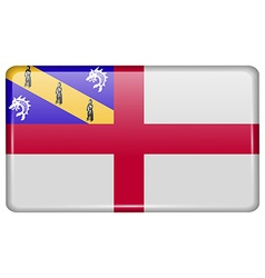 Flags Herm in the form of a magnet on refrigerator vector image vector image
