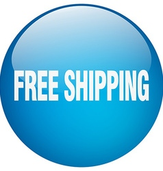 Free shipping blue round gel isolated push button vector