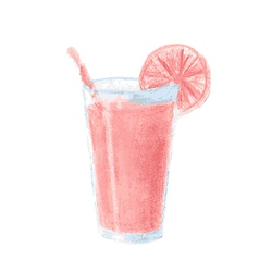 Glass color pencil red vector