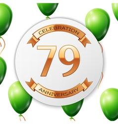 Golden number seventy nine years anniversary vector