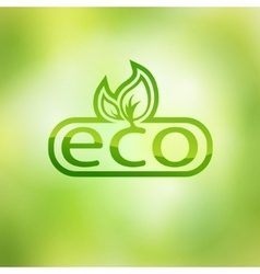 Green eco friendly background - abstract leaves vector image