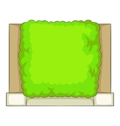Green fence icon cartoon style vector