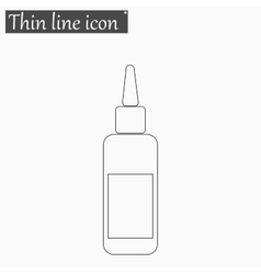 image of a vaccine vial icon Style thin vector image