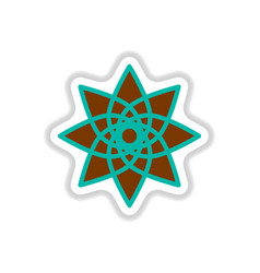 label icon on design sticker collection arabic vector image
