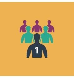 Leadership flat icon vector image vector image
