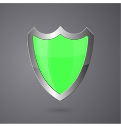 Metal surround shield on a dark background vector image vector image