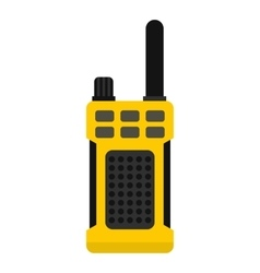 Portable radio transmitter icon flat style vector