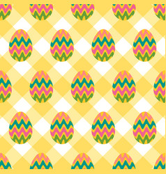 Seamless pattern of easter eggs with colorful vector