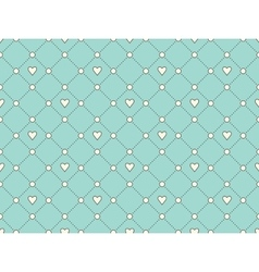 Seamless pattern with white heart and dot on a vector image vector image